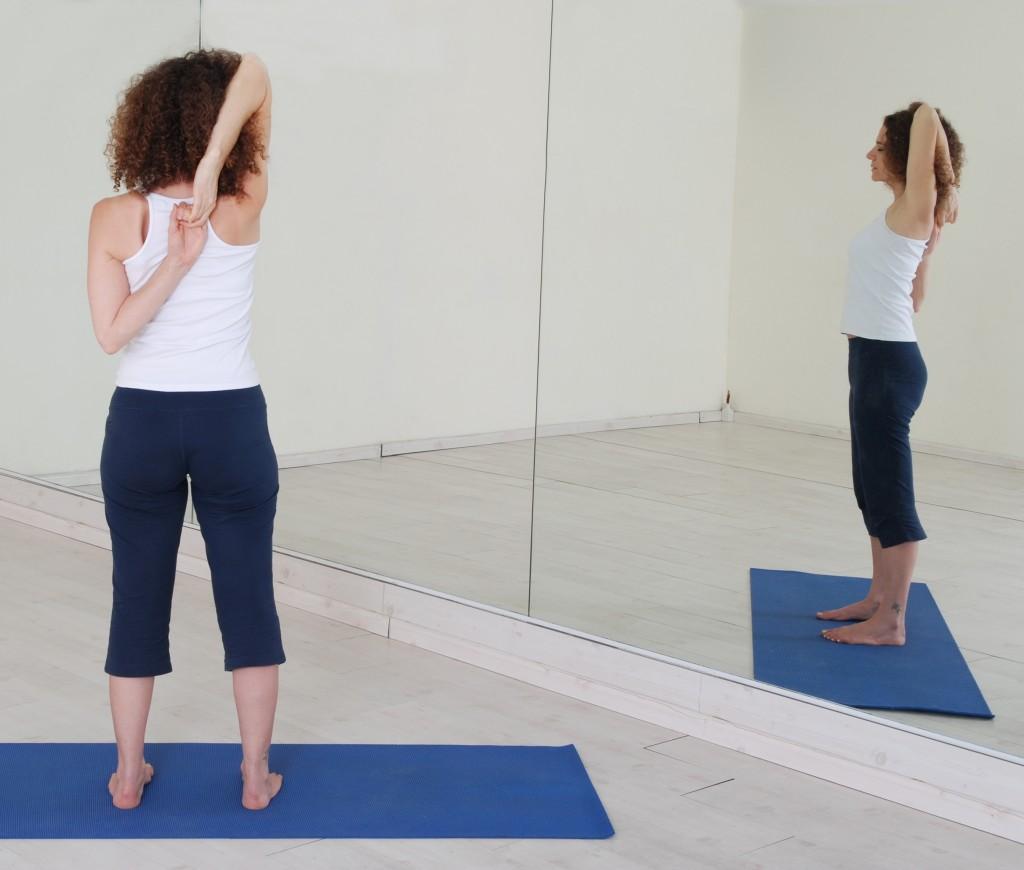 תנוחות ותרגילי יוגה: Yoga postures asana asanas Tadasana Gomukhasana